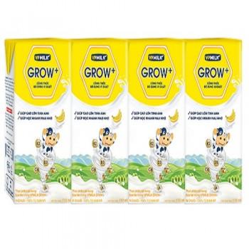 Sữa Dinh Dưỡng VPMilk Grow+ vị chuối, Hộp 180ml