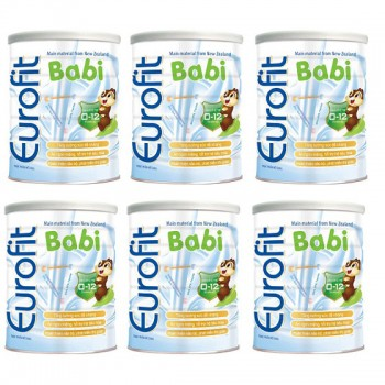 Thùng Sữa Eurofit Babi cho trẻ 0-12 tháng, 900g