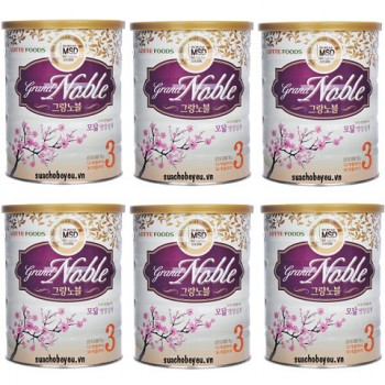 Sữa Grand Noble 3, Lotte Foods, 750g, 1-3 tuổi