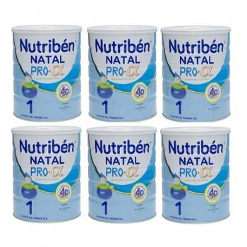 Thùng sữa Nutriben số 1 lon 800g, cho bé 0-6 tháng