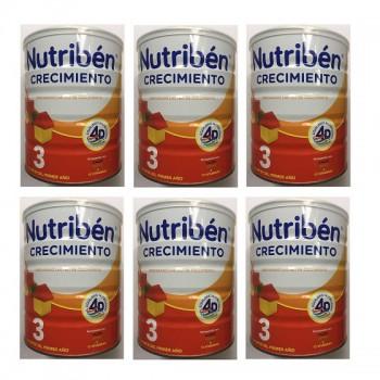 Thùng sữa Nutribén số 3, cho trẻ 1-3 tuổi, lon 800g