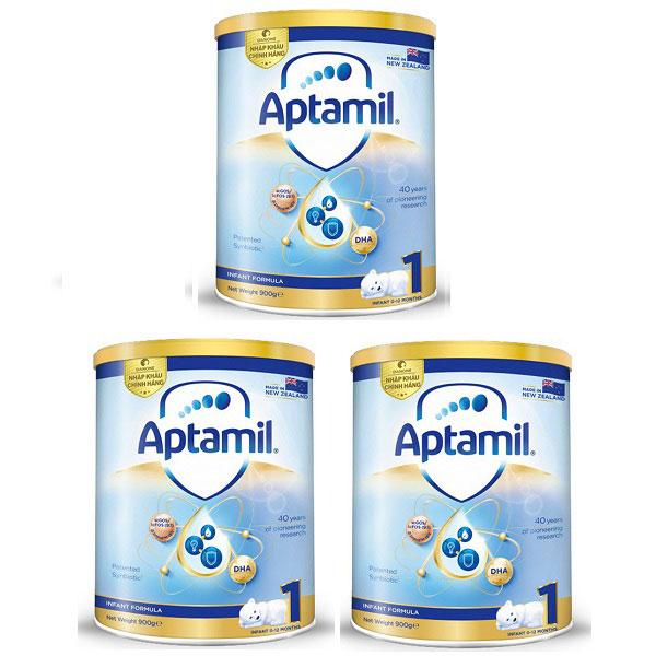Thùng sữa Aptamil New Zealand số 1 lon 900g, 0-12 tháng
