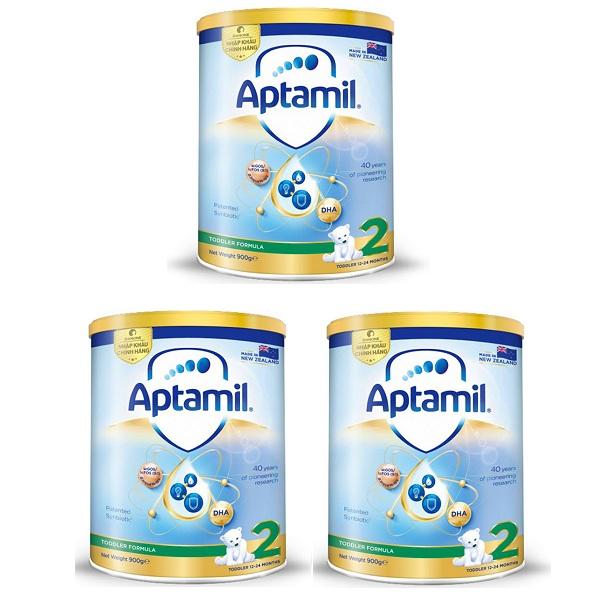 Thùng sữa Aptamil New Zealand số 2 cho trẻ 1-2 tuổi, 900g