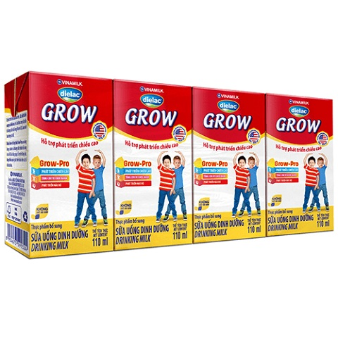 Sữa bột pha sẵn Dielac Grow hộp 110ml, 1 tuổi