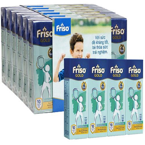 Thùng sữa bột pha sẵn Friso Gold 48 hộp 180ml