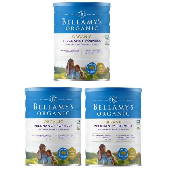 Sữa Bellamy's Organic Úc cho mẹ mang thai, lon 900g