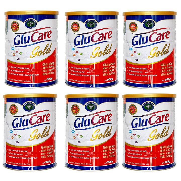 Thùng Sữa GluCare Gold cho người tiểu đường 6 hộp 900g