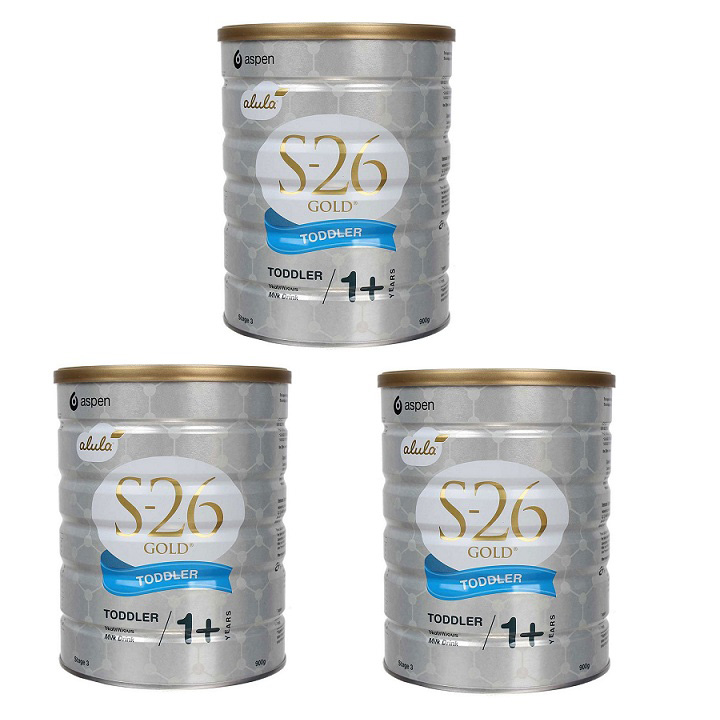 Thùng Sữa S26 Gold Toddler 3 Aspen Úc, 900g, >1 tuổi