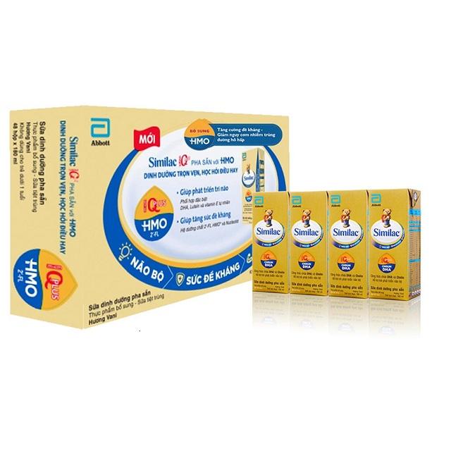 Thùng sữa Similac IQ Plus HMO pha sẵn hộp 180ml