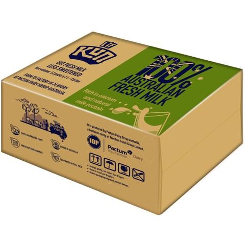 Sữa tươi tiệt trùng LIF Úc ít đường hộp 1 Lít x12