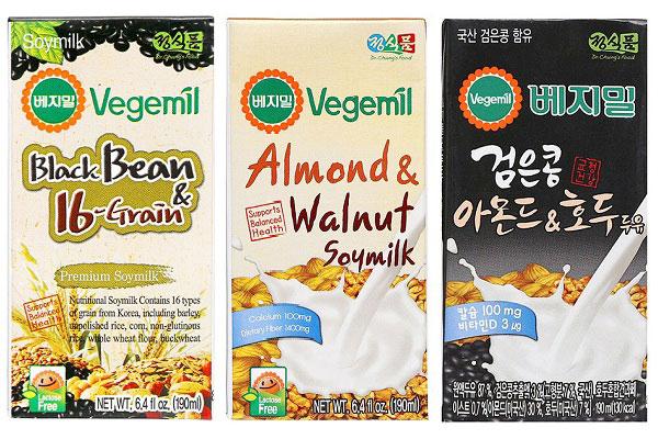 Sữa đậu nành vị hạnh nhân óc chó Vegemil ,bịch 190ml