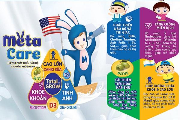Sữa Meta Care 3 Olive hộp 400g cho trẻ 1-3 tuổi