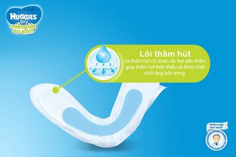 Miếng lót sơ sinh Huggies Newborn 2, 40 miếng cho trẻ 4-7kg