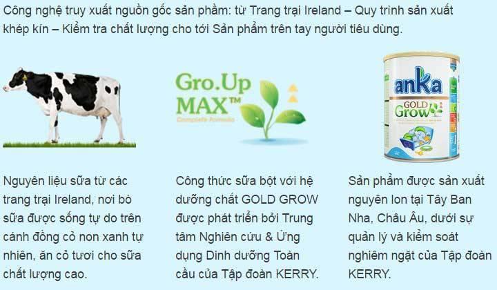 Sữa Anka Gold grow số 1 hộp 400g cho trẻ  0-6 tháng