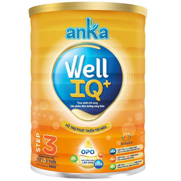 Sữa Anka Well IQ số 3 lon 400g cho trẻ 1-3 tuổi