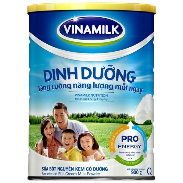sữa bột nguyên kem vinamilk lon 900g