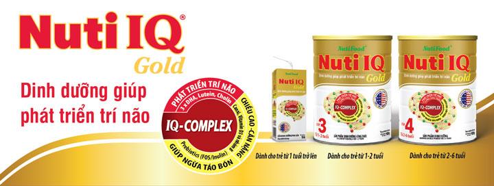sữa bột pha sẵn nuti iq gold hộp 180ml