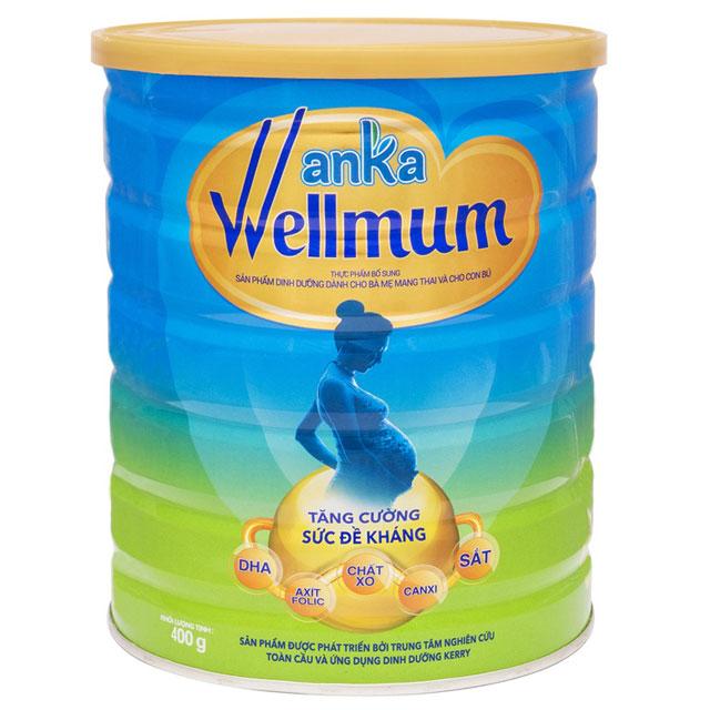 sữa anka wellmum cho mẹ mang thai và cho con bú lon 400g