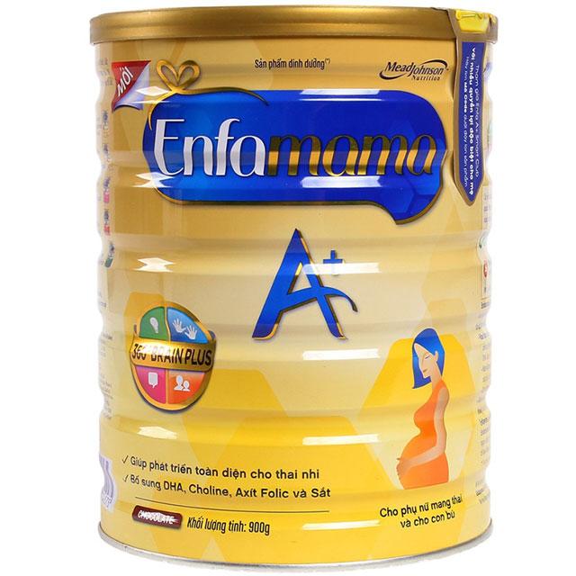 sữa cho mẹ mang thai enfamama lon 900g vị socola
