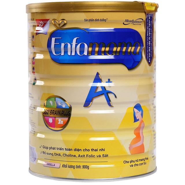 sữa cho mẹ mang thai enfamama hương vani lon 900g