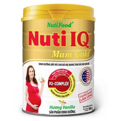 sữa cho mẹ mang thai nuti iq Mum gold hương vani lon 900g