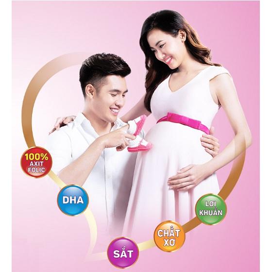 sữa cho mẹ mang thai dielac optimum mama gold lon 900g