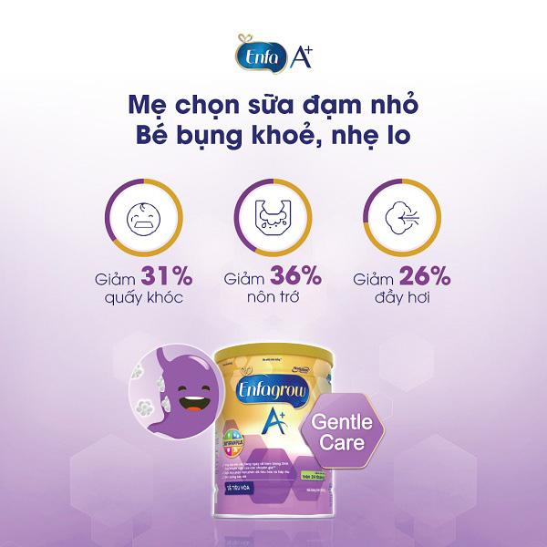 Sữa bột Enfamil A+ Gentle Care, 0-12 tháng, 800g