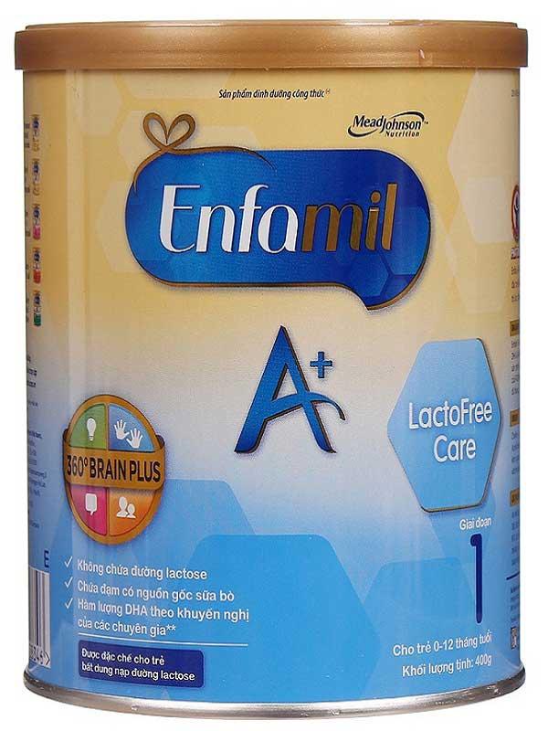 sữa enfamil lactofree care cho trẻ không dung nạp đường lactose