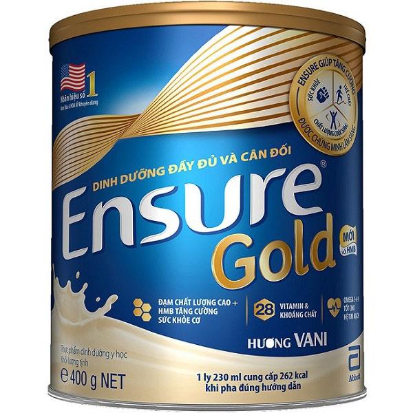 sữa bột dinh dưỡng ensure gold HMB lon 400g