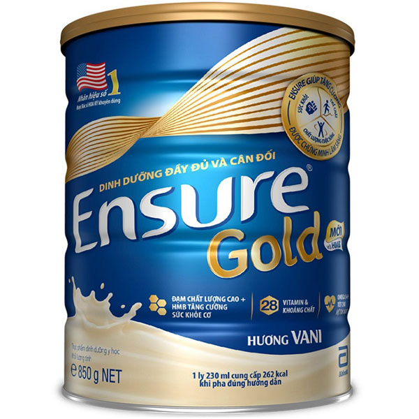 sữa bột dinh dưỡng ensure gold HMB hộp 850g