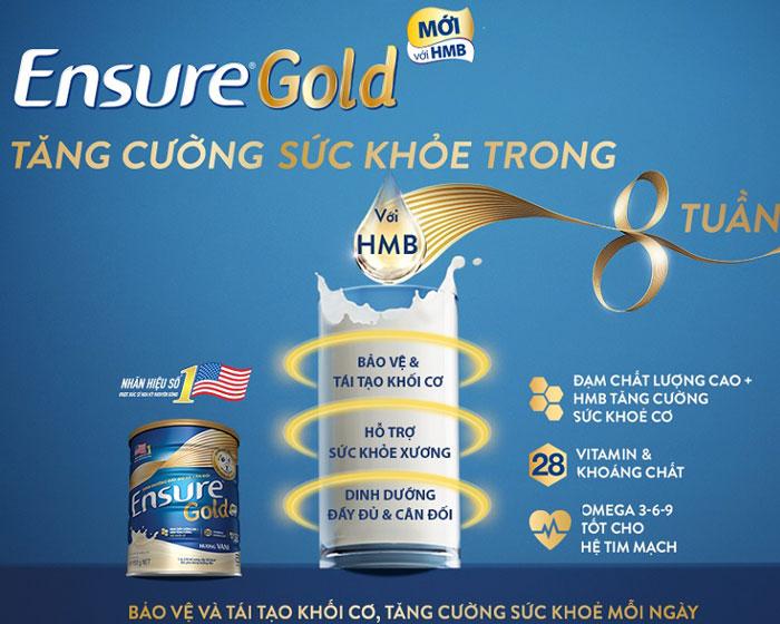 sữa bột dinh dưỡng ensure gold HMB hộp 400g