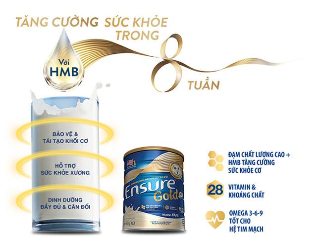 sữa bột dinh dưỡng ensure gold HMB vani ít ngọt lon 400g