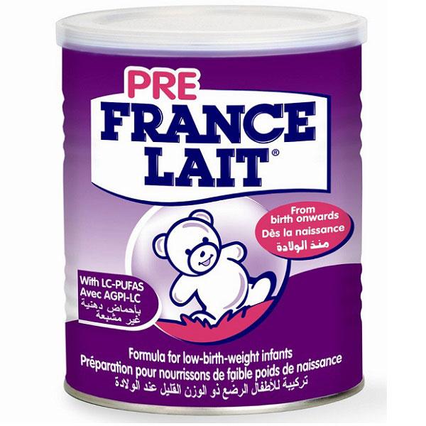 sữa France Lait Pre cho trẻ sinh non nhẹ cân thiếu tháng