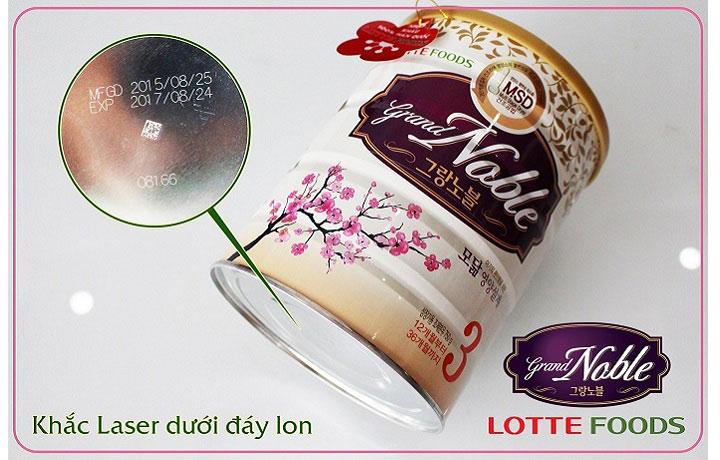 sữa grand noble số 2 hàn quốc lon 750g cho trẻ 6-12 tháng tuổi