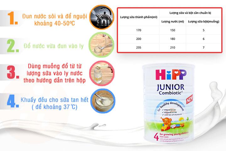 sữa Hipp junior Combiotic số 4 lon 800g