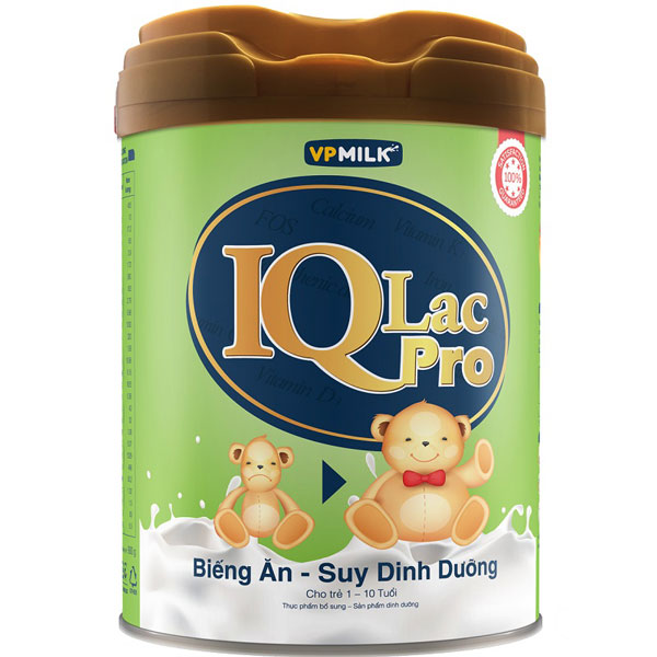 Sữa IQlac Pro Biếng ăn hộp 900g, cho trẻ 1-10 tuổi