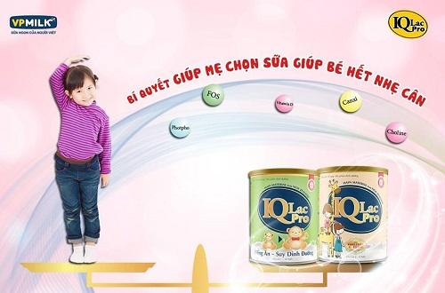 Sữa IQlac Pro Biếng Ăn suy dinh dưỡng hộp 900g