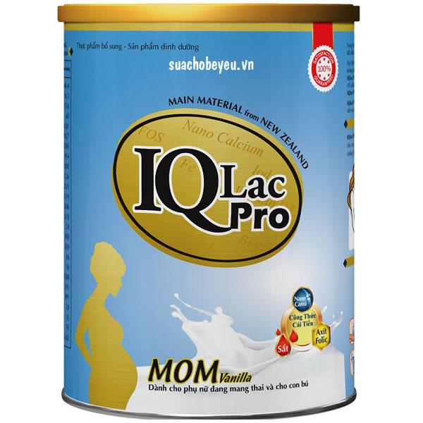 sữa iqlac pro mom cho mẹ mang thai và cho con bú  hương vani lon 900g