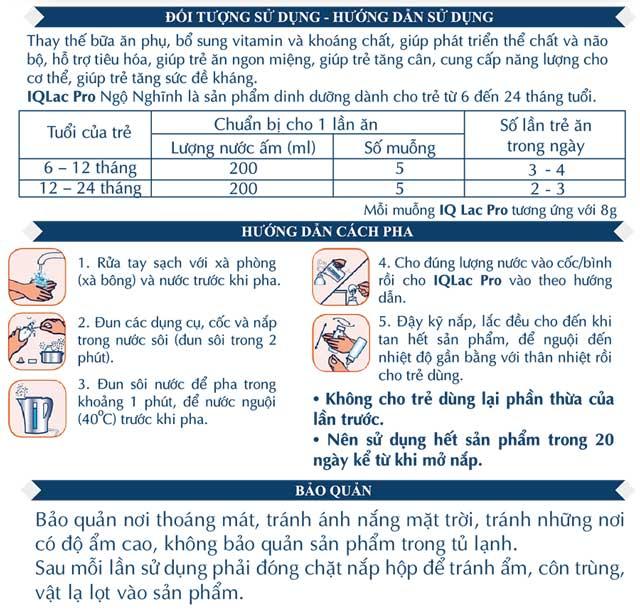sữa iqlac pro ngộ nghĩnh hộp 400g cho trẻ 6-24 tháng