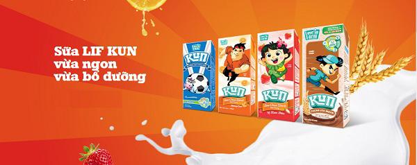 Sữa dinh dưỡng Kun ca cao lúa mạch hộp 180ml