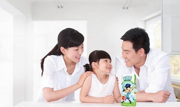 sữa dinh dưỡng kun có đường, hộp 110ml