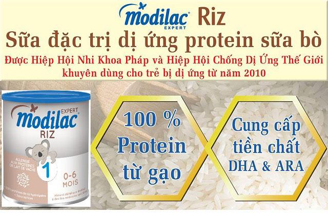 sữa Modilac Riz số 1 cho trẻ dị ứng đạm 0 đến 6 tháng tuổi lon 800g