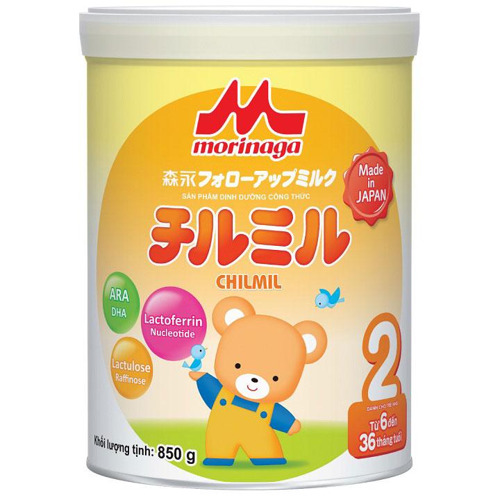 sữa morinaga số 2 lon lớn 850g cho trẻ 6 đến 36 tháng