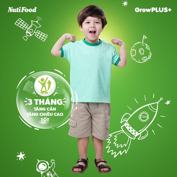 Sữa bột pha sẵn Nuti Grow Plus màu cam cho trẻ chậm tăng cân hộp 180ml