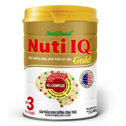 sữa nuti iq gold step 3 hộp 900g cho trẻ 1-2 tuổi