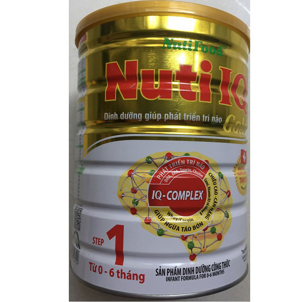sữa nuti iq gold số 1 lon 900g