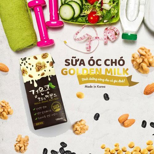sữa óc chó hàn quốc golden milk hộp 190ml