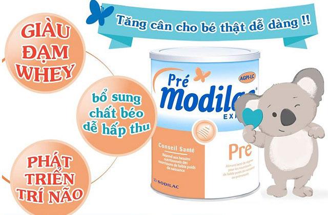sữa pre modilac expert cho trẻ sinh non thiếu tháng nhẹ cân