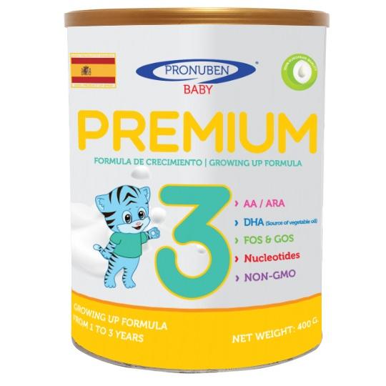 sữa pronuben premium hổ xanh số 3 lon 800g cho trẻ 1-3 tuổi