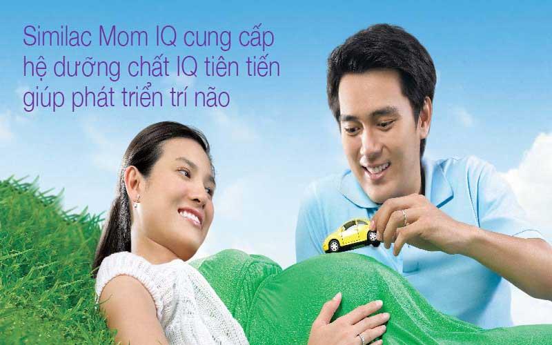 sữa cho mẹ mang thai và cho con bú similac mom iq hương vani lon 400g